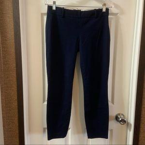 J.Crew Navy Blue Minnie Slim Ankle Pant size 0